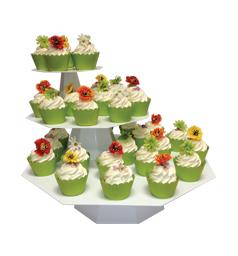 Octagon cupcake tree with cupcakes