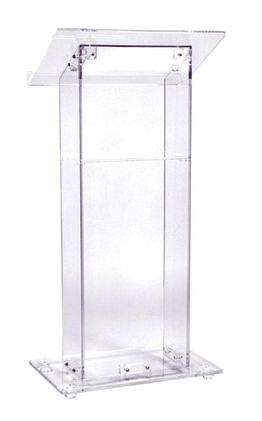 clear podium