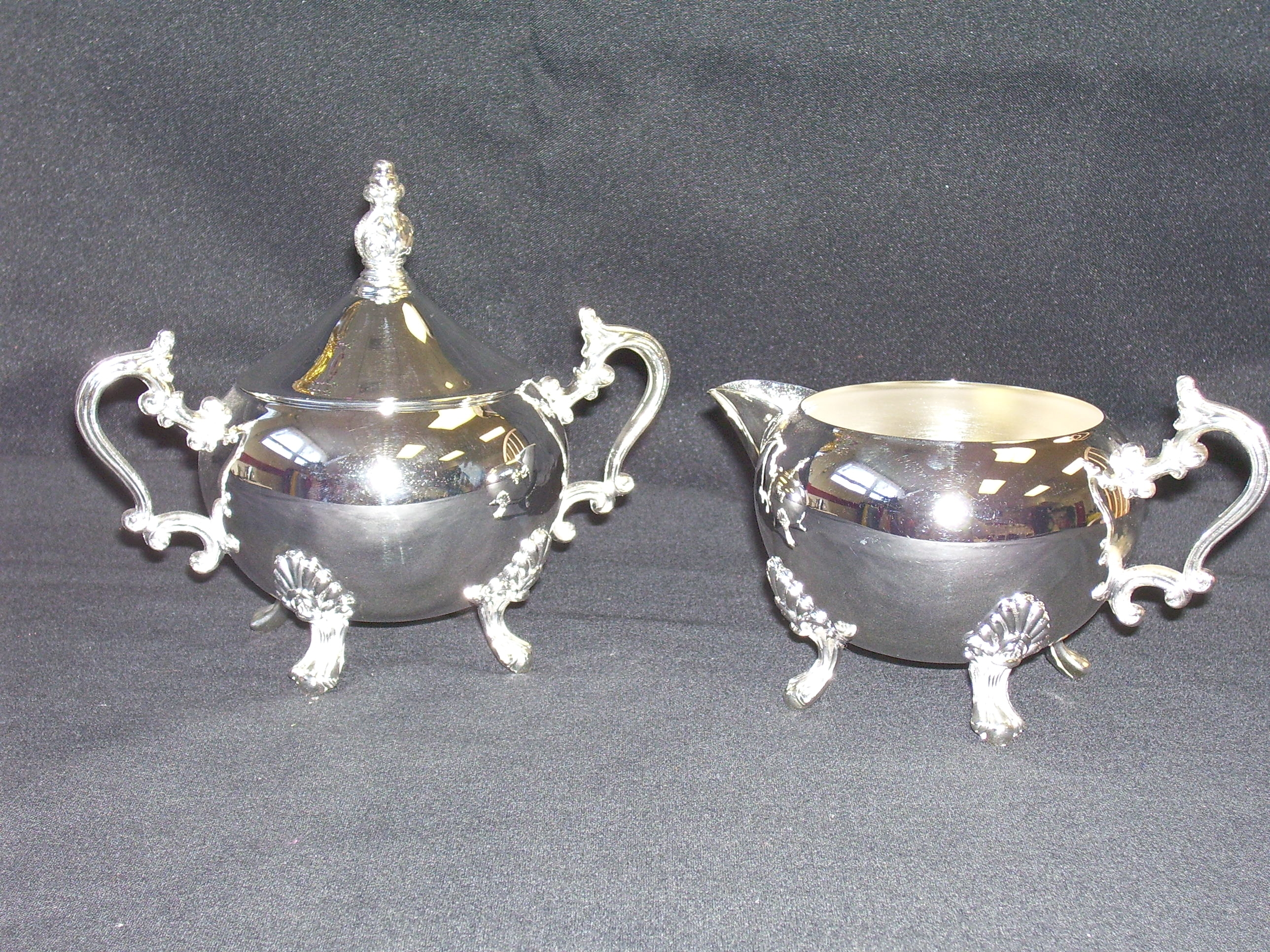 creamer and sugar silver 1