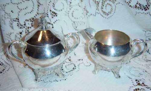 creamer and sugar silver 2