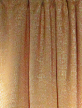 pipe drape gold