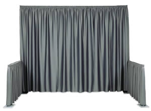 pipe drape grey