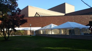 Tent at Robsham for Madeline Albright