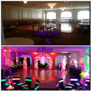 Before and After Neon Sweet Sixteen